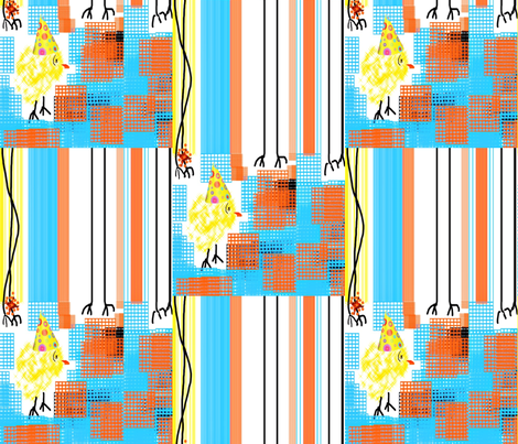 Party Chick fabric by anniedeb on Spoonflower - custom fabric