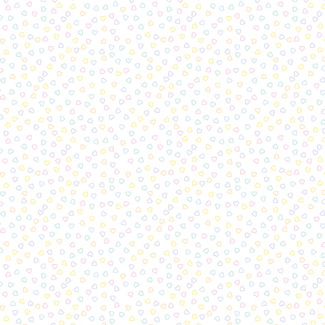 Tiny Pastel Ditsy Hearts fabric by marcelinesmith on Spoonflower - custom fabric