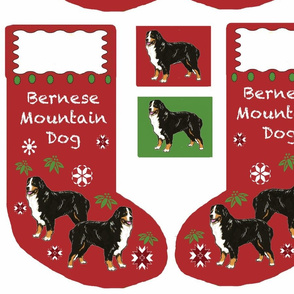 Bernese Mountain dog Cut and sew Christmas Stocking
