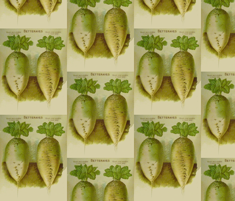 White French Beets fabric by susaninparis on Spoonflower - custom fabric