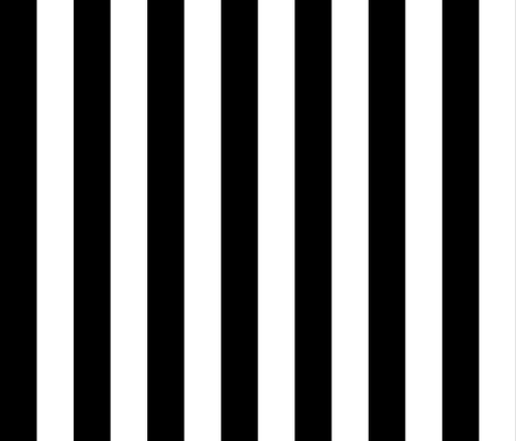 black and white 1 1/2 inch stripe fabric by littlemisscrow on Spoonflower - custom fabric