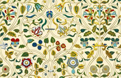Embroidered Elizabethan Forepart Gold- and Silverwork Imitation fabric by bonnie_phantasm on Spoonflower - custom fabric