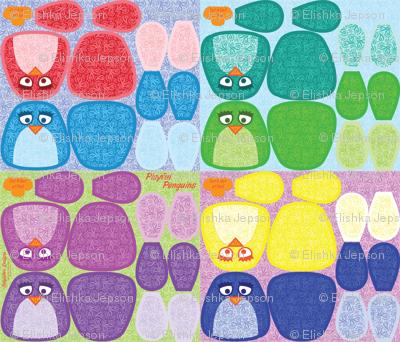 Playful Pengiuns Plushies
