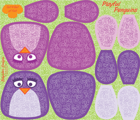 Playful Pengiuns Plushies fabric by robyriker on Spoonflower - custom fabric
