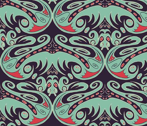 Dragonette fabric by plaatjes on Spoonflower - custom fabric