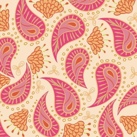 paisley - fruit salad fabric by fox&lark on Spoonflower - custom fabric