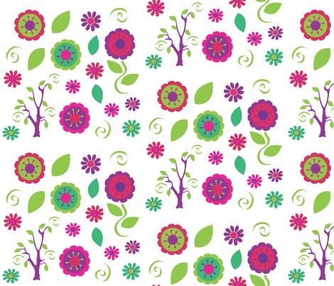 flower fun fabric by amy_frances_designs on Spoonflower - custom fabric
