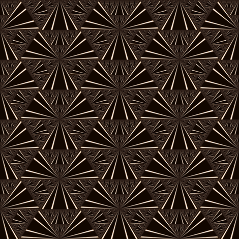 Black and Brown Fan Fractal © Gingezel™ fabric by gingezel on Spoonflower - custom fabric