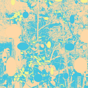 Apple_blossoms medium BLUE WITH ORANGE hue_with_pastel_spots-ch-ch-ch