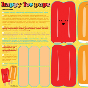 diy happy ice pops plush doll set - click to see sewn