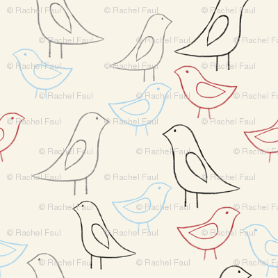 lovebird outlines color cream