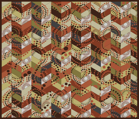 Dusty Cheater Quilt fabric by wiccked on Spoonflower - custom fabric