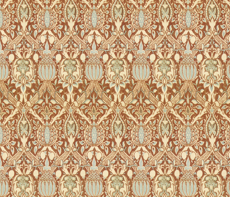 Late Victorian floral fabric by unseen_gallery_fabrics on Spoonflower - custom fabric