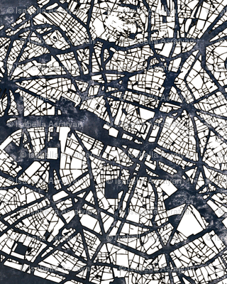 map of Paris