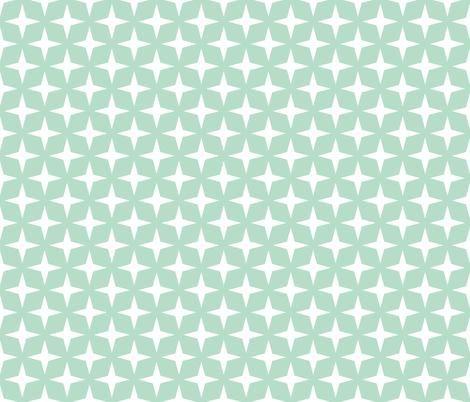 Galaxy Retro White Star on Blue fabric by smuk on Spoonflower - custom fabric
