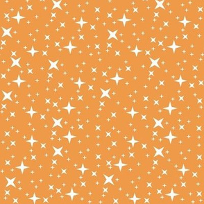 Galaxy Retro Small Stars Orange White