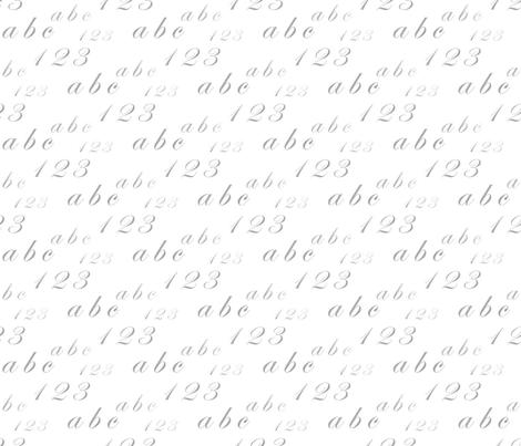 1 2 3 - a b c  fabric by alfabesi on Spoonflower - custom fabric