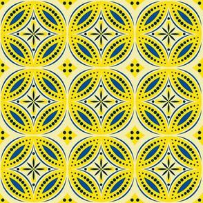 Moroccan Tiles (Blue/Yellow)