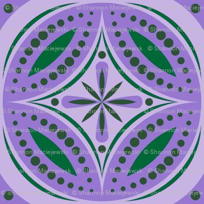 Moroccan Tiles (Violet/Green)
