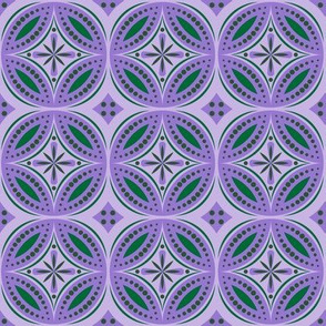 Moroccan Tiles (Violet/Green)