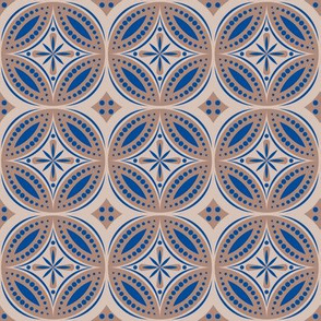 Moroccan Tiles (Blue/beige)