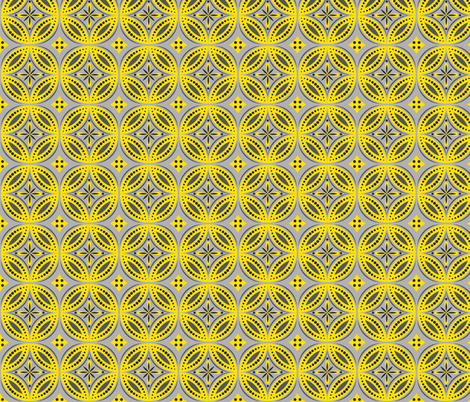 Moroccan Tiles (Yellow/Gray) fabric by shannonmac on Spoonflower - custom fabric