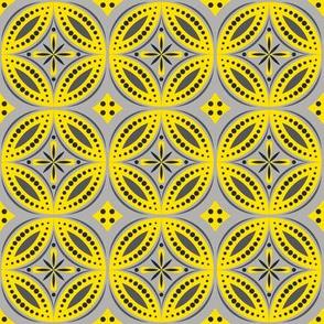 Moroccan Tiles (Yellow/Gray)