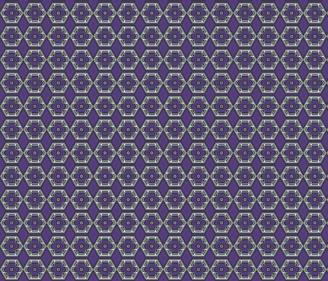 Plum Hexagons © Gingezel™ 2012 fabric by gingezel on Spoonflower - custom fabric
