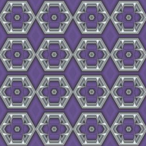 Plum Hexagons © Gingezel™ 2012