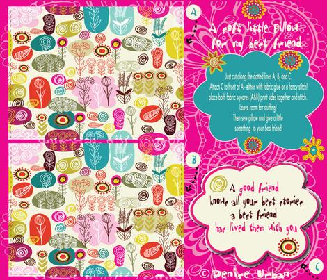 For my very best friend! fabric by deeniespoonflower on Spoonflower - custom fabric