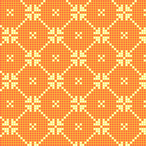 lace squares - yellow fabric by cheyanne_sammons on Spoonflower - custom fabric