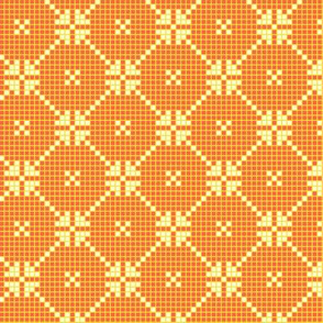 lace squares - yellow