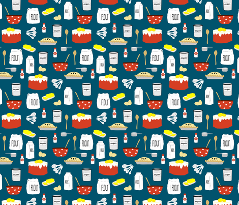 Baking_piesandcakes fabric by lauriewisbrun on Spoonflower - custom fabric