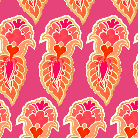 feather - fruit salad fabric by fox&lark on Spoonflower - custom fabric