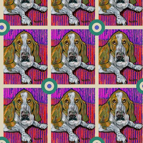 Basset Hound Bullseye fabric by david_kent_collections on Spoonflower - custom fabric