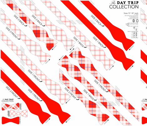 Bowtie DIY: Day trip Collection fabric by avelis on Spoonflower - custom fabric