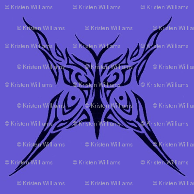 Tribal Butterfly (purple)