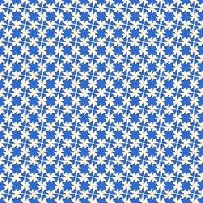 Tiny Tesserae  -blue & white