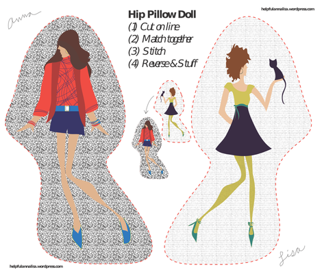 Hip Pillow-Doll fabric by annalisa222 on Spoonflower - custom fabric