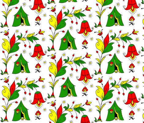 Under Tulip Camping fabric by svetlanamolchanova on Spoonflower - custom fabric
