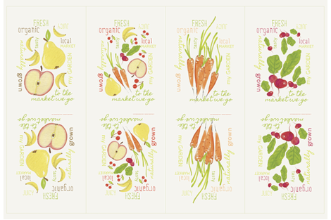 Fruit and Vegetable Sacks| alexcolombo.com fabric by studioalex on Spoonflower - custom fabric