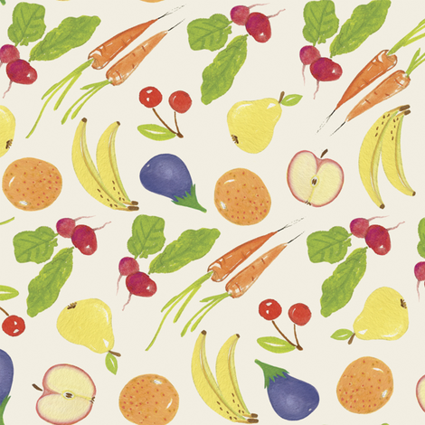 To The Market We Go! | alexcolombo.com fabric by studioalex on Spoonflower - custom fabric