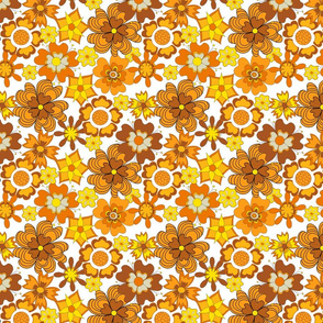 Twiggy flowers orange