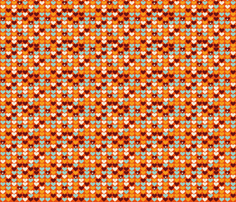 Grandma Hearts fabric by verycherry on Spoonflower - custom fabric
