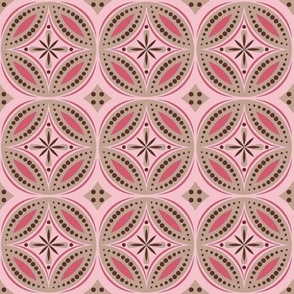 Moroccan Tiles (Pink/Brown)