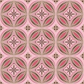 Moroccan Tiles (Pink/Brown)