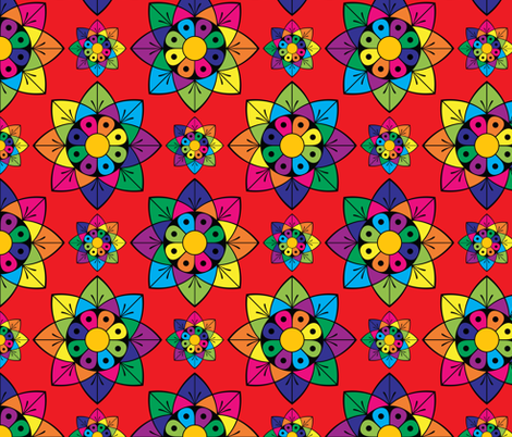 Colourful Floral Pattern fabric by galleryhakon on Spoonflower - custom fabric