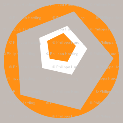 Geo Dot Complex Tangerine