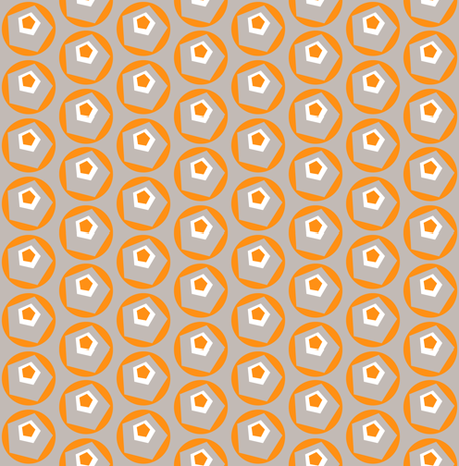 Geo Dot Complex Tangerine fabric by courtandspark on Spoonflower - custom fabric