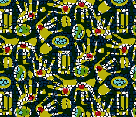 afrochair-mix colour fabric by funmi_mathews_designs on Spoonflower - custom fabric
